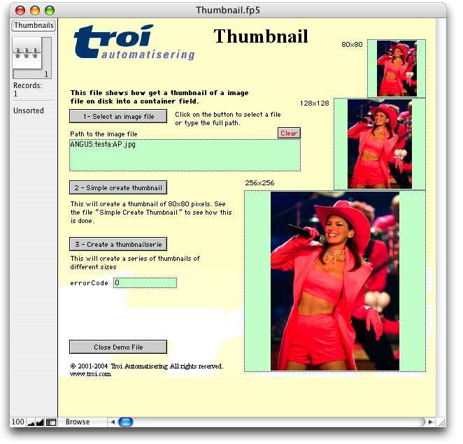 Troi File Plug-in for FileMaker Pro