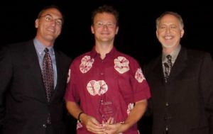 Peter Baanen receives Excellence Award, Devcon 2001, Orlando