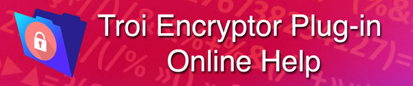 Encryptor Online Help pages