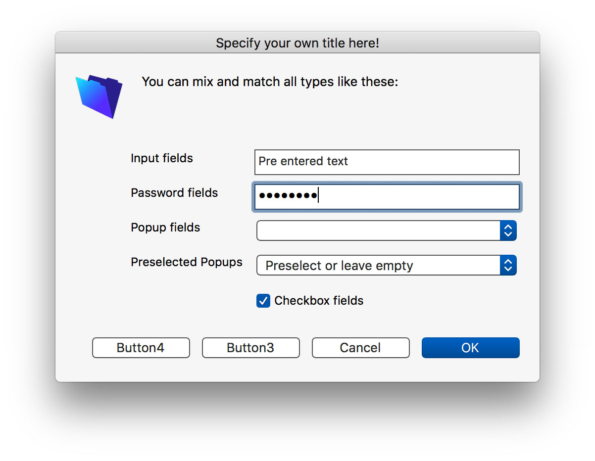 Screenshot of InputDialog with Troi Dialog Plug-in 7.0 for FileMaker Pro 16
