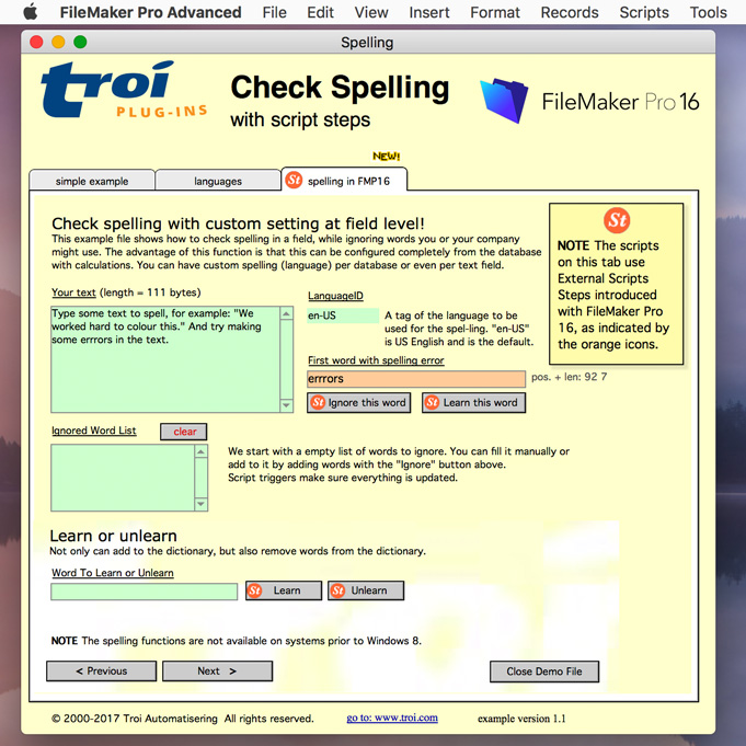 Troi-Text-Plug-in 4.5 screenshot