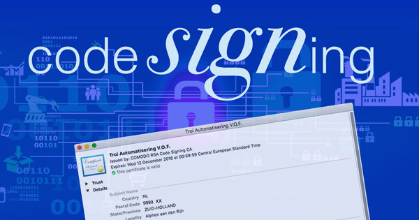 Code Signing Troi Plug-ins
