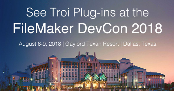 See Troi at the #FileMaker DevCon 2018