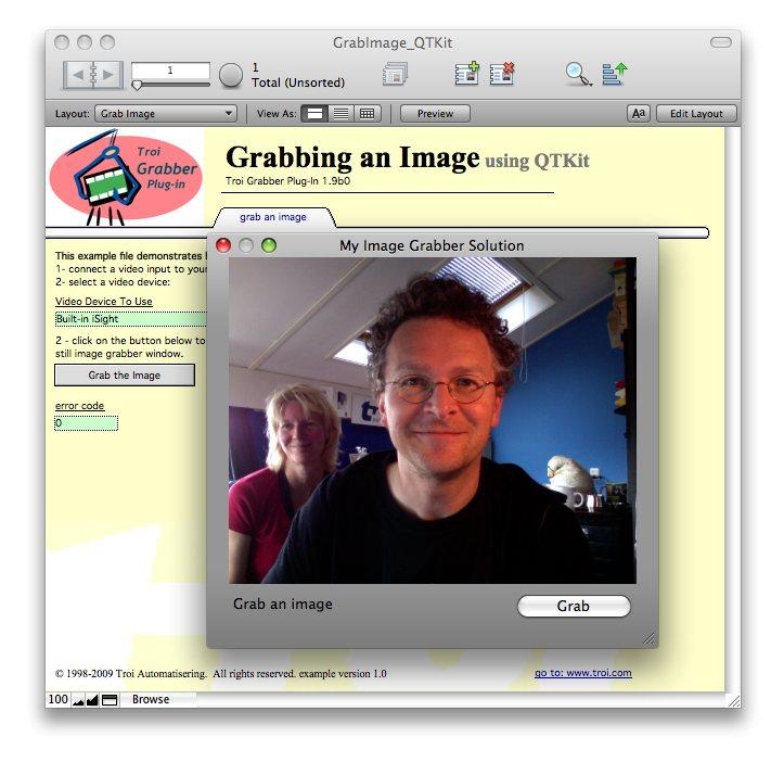Image Grabbing Window