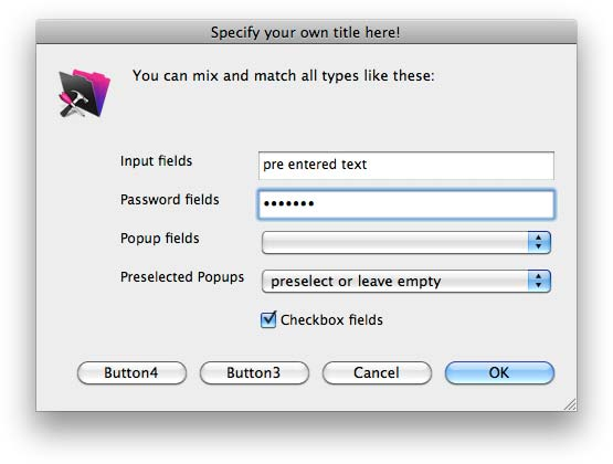 Input Dialog for FileMaker Pro with 48x48 pixels icons